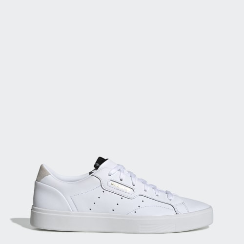 adidas Sleek Shoes, (Ftwr White / Ftwr White / Crystal White), function productLaunchDate(product, formatDate) {   return formatDate(product.attribute_list.preview_to, 'dddd DD MMMM'); }