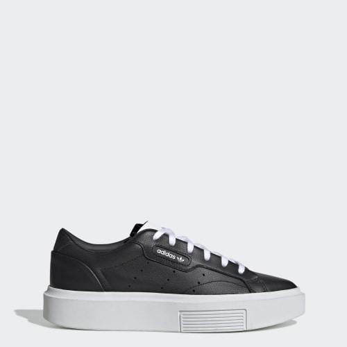 adidas Sleek Super Shoes, (Core Black / Core Black / Ftwr White), function productLaunchDate(product, formatDate) {   return formatDate(product.attribute_list.preview_to, 'dddd DD MMMM'); }