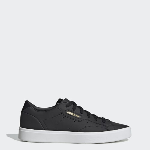 adidas Sleek Shoes, (Core Black / Core Black / Crystal White), function productLaunchDate(product, formatDate) {   return formatDate(product.attribute_list.preview_to, 'dddd DD MMMM'); }