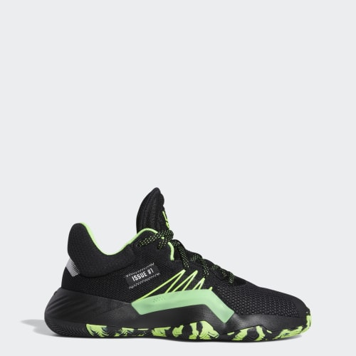 STEALTH SPIDER-MAN | D.O.N. ISSUE #1 SHOES, (Core Black / Team Solar Green / Silver Metallic), Invalid Date