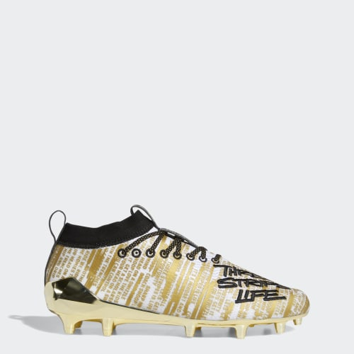 Adizero 8.0 Cleats, (Cloud White / Core Black / Gold Metallic), Invalid Date