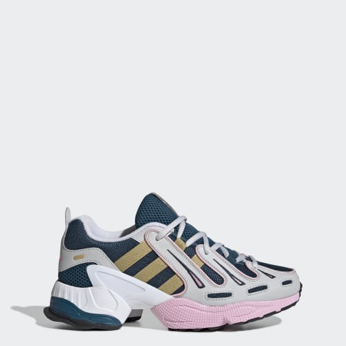EQT Gazelle Shoes, (Tech Mineral / Gold Metallic / True Pink), Invalid Date