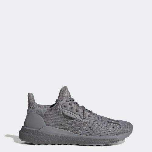 Pharrell Williams x adidas Solar Hu PRD Shoes, (Grey Three / Grey Three / Grey Three), Invalid Date