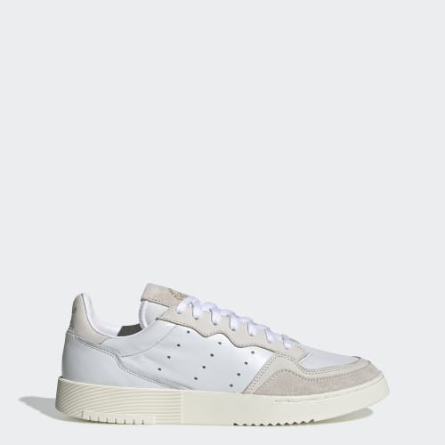 Supercourt Shoes, (Crystal White / Chalk White / Off White), function productLaunchDate(product, formatDate) {   return formatDate(product.attribute_list.preview_to, 'dddd DD MMMM'); }