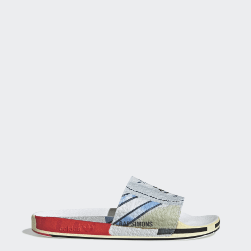 RS Micro Adilette Slides, (Silver Metallic / Bright Red / Bright Red), Invalid Date