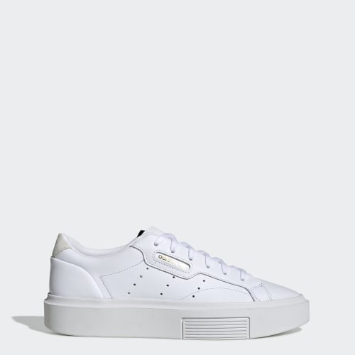 adidas Sleek Super Shoes, (Ftwr White / Crystal White / Core Black), function productLaunchDate(product, formatDate) {   return formatDate(product.attribute_list.preview_to, 'dddd DD MMMM'); }