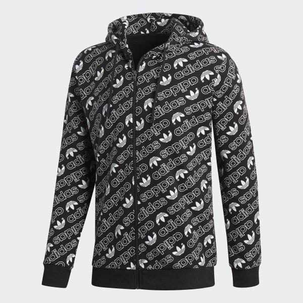 Veste adidas France Monogram capuche noir à adidas zXqXwr8