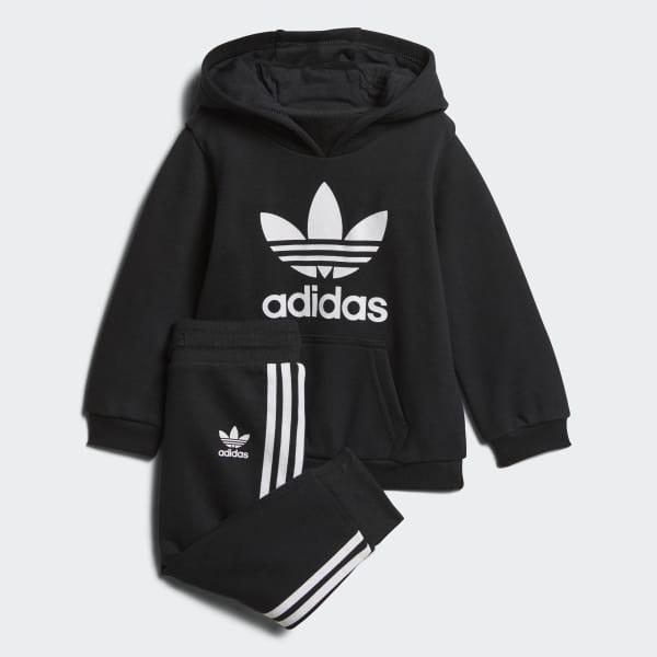 Noir Adidas France Trefoil Hoodie Ensemble 4CZfqwn