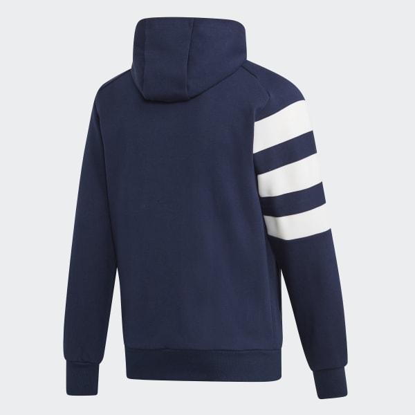 Chaqueta Azul Capucha Francesa De AdidasEspaña Federación Con Balonmano XukPOiZT