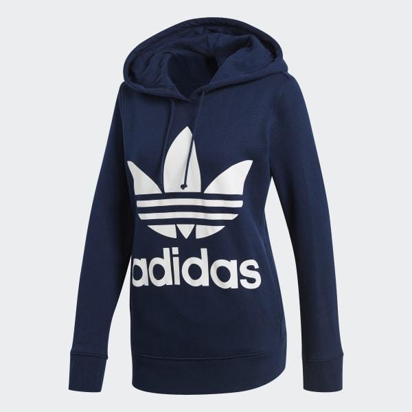 Blu Blu Donna Trefoil Adidas Donna Adidas Felpa Felpa Trefoil If7ygY6bvm