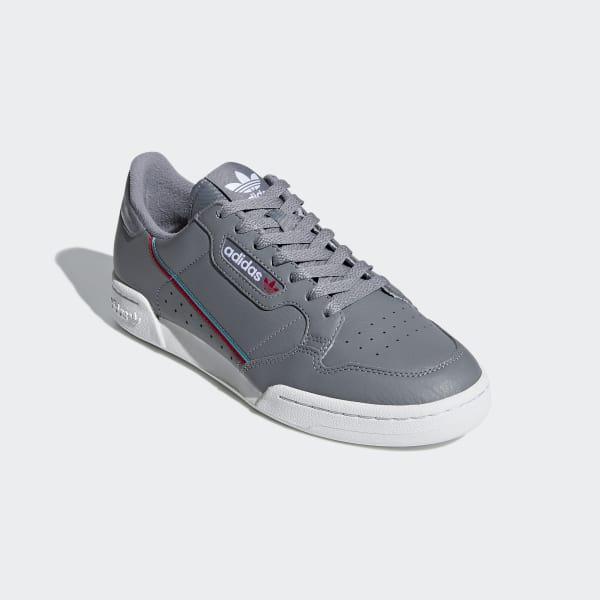 80 AdidasEspaña Zapatilla Continental Gris L5R4jA