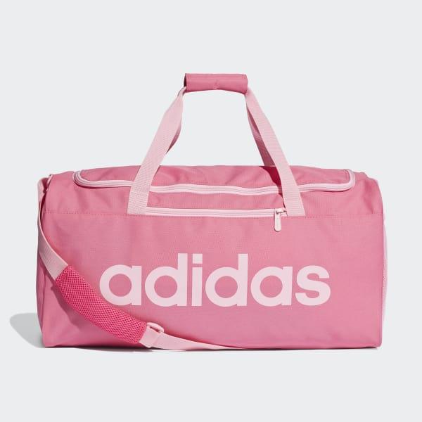 Core Medium Duffel Bag Adidas Linear PinkUk 2D9EHI