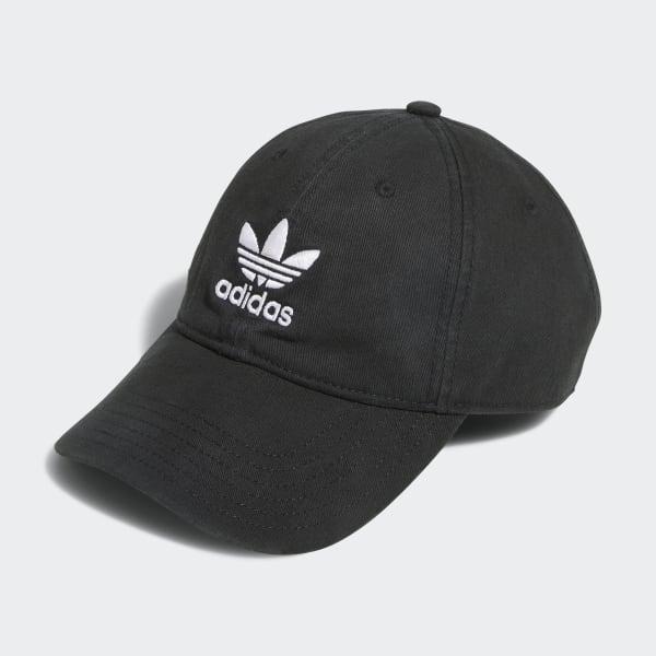 8d8eda205bffa0 adidas Originals Relaxed Strap-Back Hat - Black | adidas US