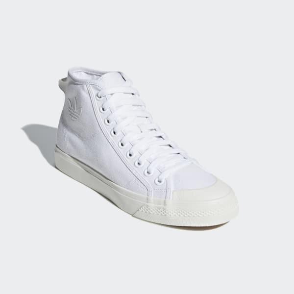 High Us Adidas Nizza White Shoes Top 74q5qaxf