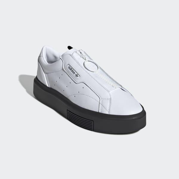 Super Adidas BlancoPeru Sleek Zapatillas Zip jR354ALq