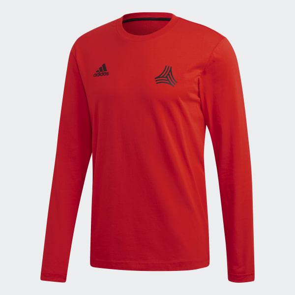 Tan Cotton Camiseta Rojo Graphic España Adidas 4wRRHd