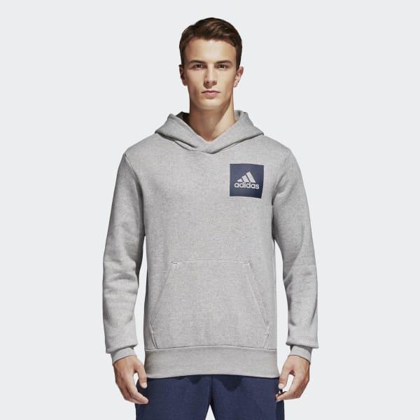 Gris Logo Essentials À France Capuche Shirt Sweat Adidas Sq1UWPB