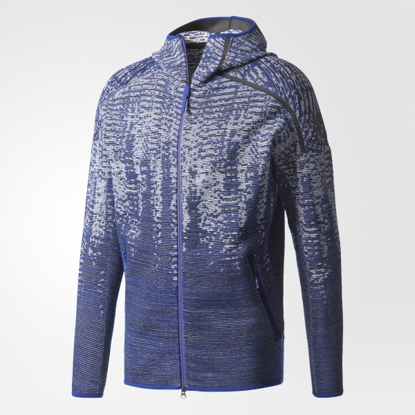 Con Capucha Azul Chaqueta Z e Knit Pulse Adidas n vRAAdwq