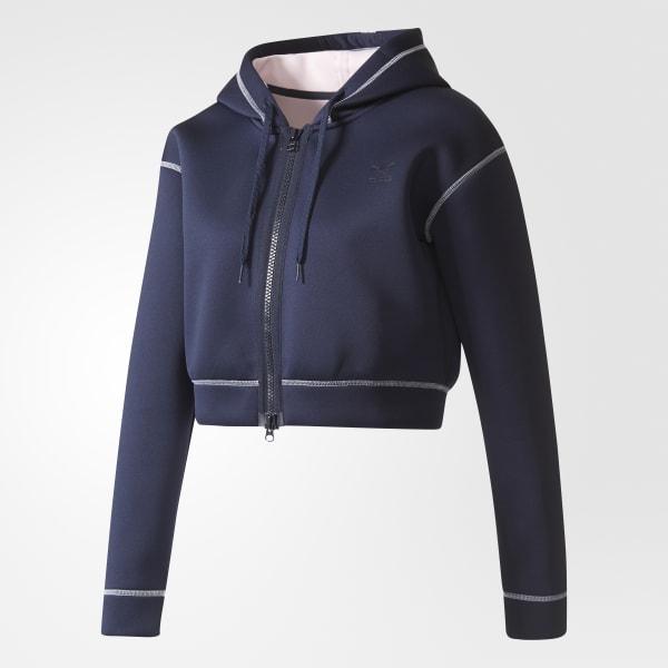 Adidas France Veste Bleu À Capuche q01pT1F