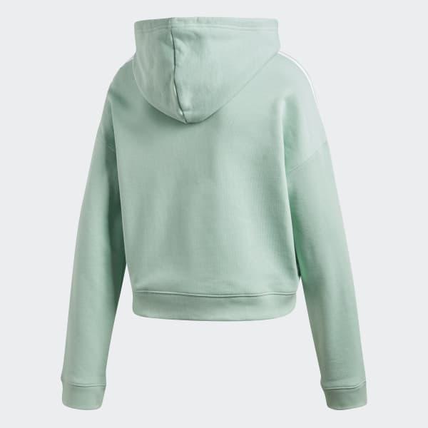 Sweat À AdidasFrance Cropped Shirt Capuche Vert 3TKlF1cJ