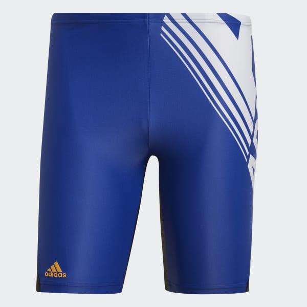 Azul Fitness Bañador Largo Colorblock AdidasEspaña 8Pn0kOw
