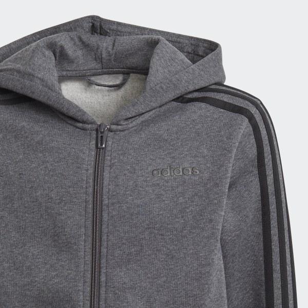 Kapuzenjacke GrauDeutschland Adidas Essentials 3 Streifen MSUzVp