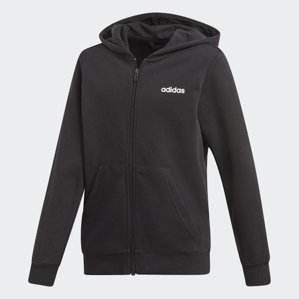 À Capuche Essentials AdidasFrance Linear Veste Noir EWHYD92I