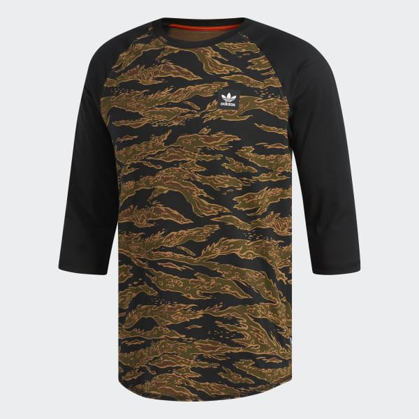 Shirt Raglan T Camouflage AdidasFrance Vert H29WEDYI