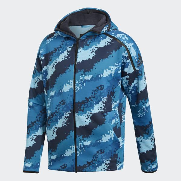 Z eAllover Fast Print Adidas BleuFrance Capuche n Veste À Release T1l3uKJc5F