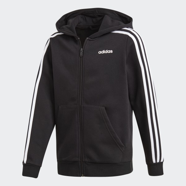 3 À Capuche AdidasFrance Veste Noir Bandes Essentials 29bDIYHeWE