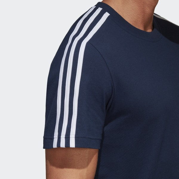 Bleu 3 Shirt T Classics Essentials AdidasFrance Stripes b76gfYy