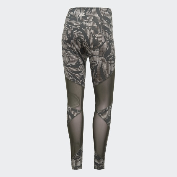This Floral Rise Mesh Adidas Believe Linear GreyBelgium High Tights Long 67yvfYgb