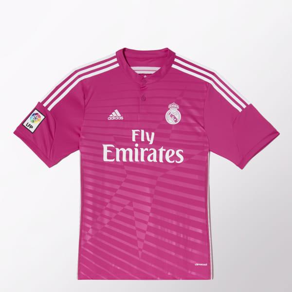Camiseta Madrid Adidas Real Segunda Equipación Jugador RosaColombia 1lJuT3FKc5