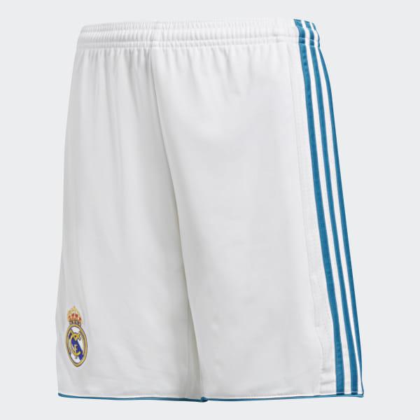 Real WhiteBelgium Home Adidas Madrid Shorts eBrCxod