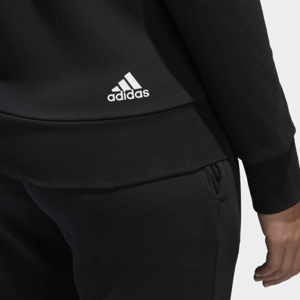 Linear Zip AdidasFrance Capuche Essentials Veste Noir Full À 2WE9DYIH