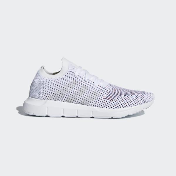 Run Swift Shoes Adidas Primeknit WhiteUs Qtrhds