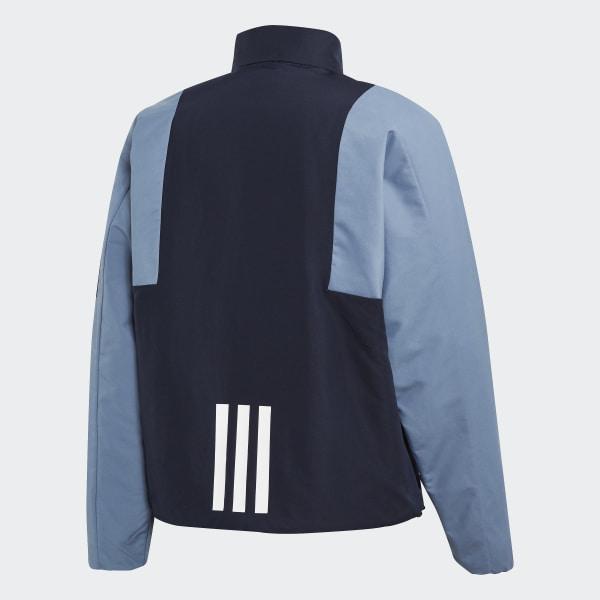 Veste AdidasFrance Sport Lined Back Bleu Insulation To rshQxtdC