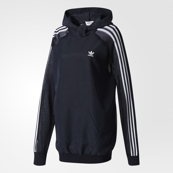 3 AdidasFrance Bleu À Capuche Shirt Sweat Stripes OPkuZXTi