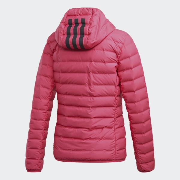 Doudoune Soft Stripes Hooded AdidasFrance 3 Varililte Rose L3Rj54Acq