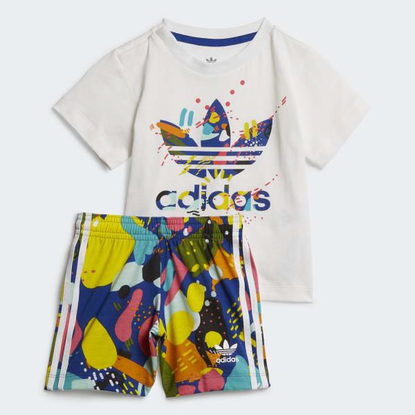 Flecha residuo Reprimir  adidas Conjunto Shorts y Camiseta - Blanco | adidas Colombia