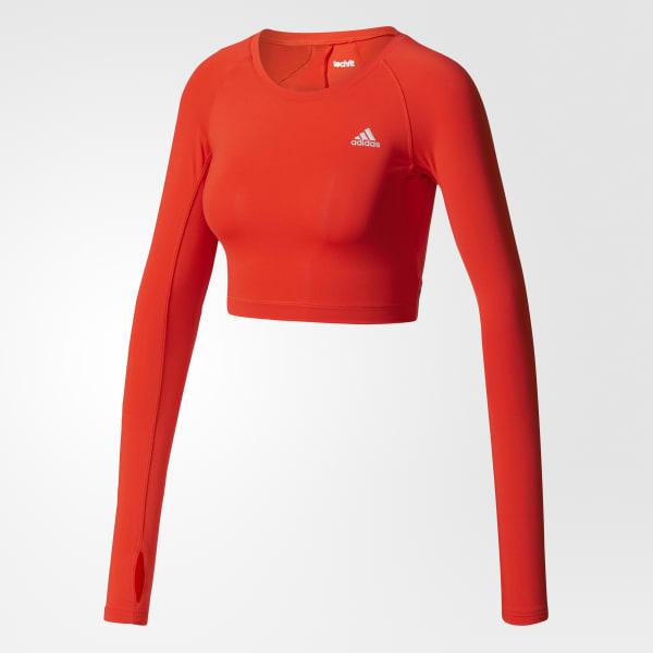 a5fb7793fc8 adidas Techfit Crop Top - Red   adidas US