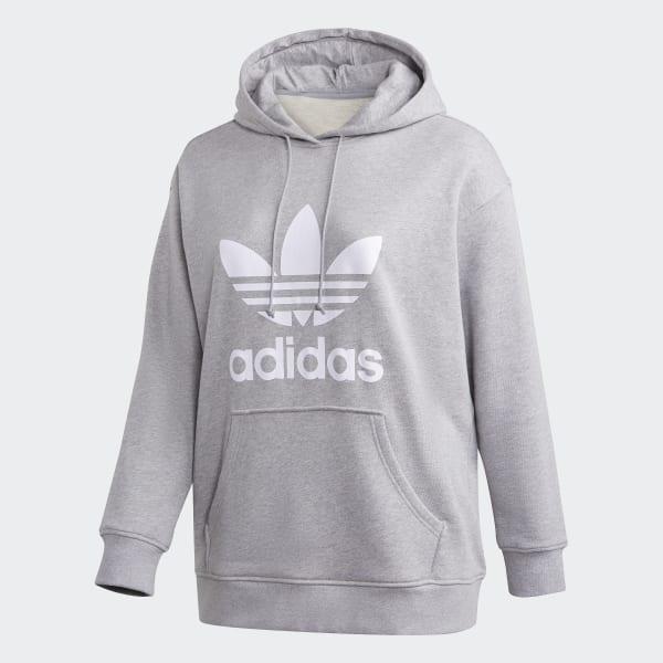 adidas Trefoil Hoodie – Große Größen Grau | adidas Austria