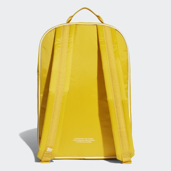 adidas Classic Backpack - Yellow  76437cf51905a