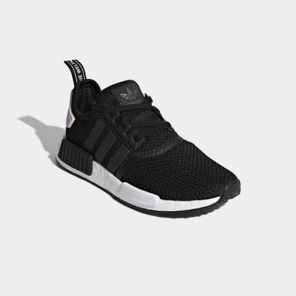 womens nmd black and white