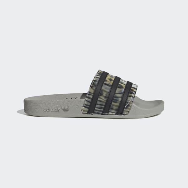 Black and Grey Animal Print Slides