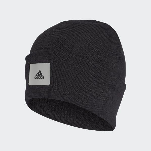 5ce0c909d37 Logo Beanie Black   Black   Mgh Solid Grey CY6012