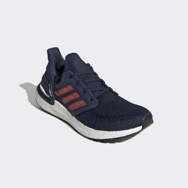 Ultraboost 20 Herrenschuh in Marineblau und Rot | adidas