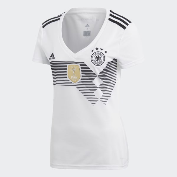 ec1bd4f937f39 Camisa Oficial Alemanha 1 Feminina 2018 - Branco adidas