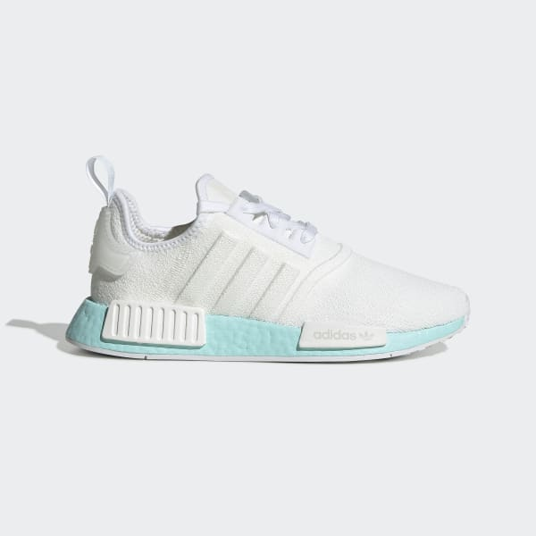 Women S Nmd R1 White And Aqua Shoes Adidas Uk