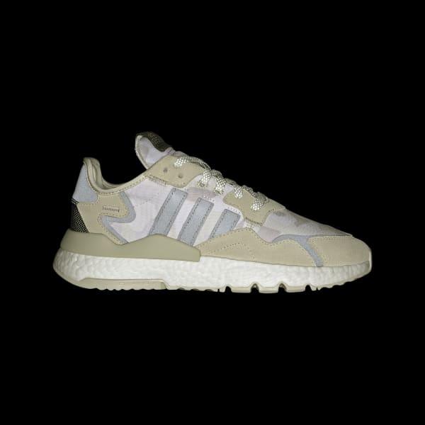 adidas originals nite jogger trainers in triple white